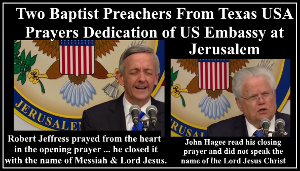 Image result for photos of hagee and jeffress at us embassy in jerusalem