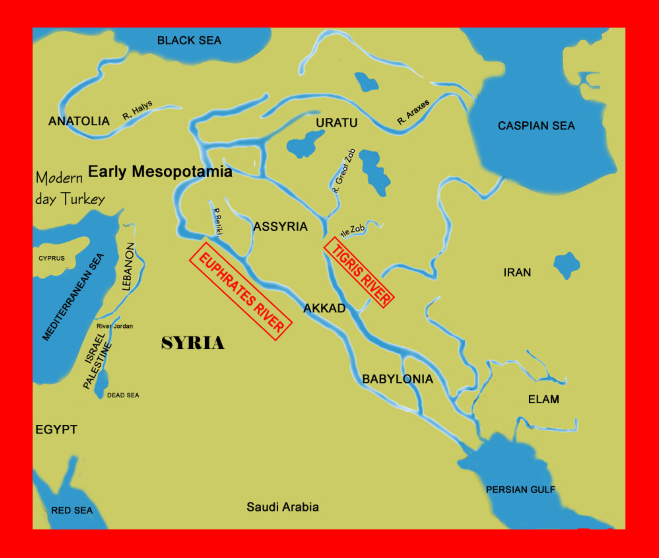 Scripture For Today Turkey Iran Euphrates River JESUS OUR - Tigris and euphrates river map